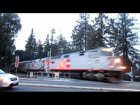 CalTrains (and Union Pacific) at Palo Alto - January 26th, 2016