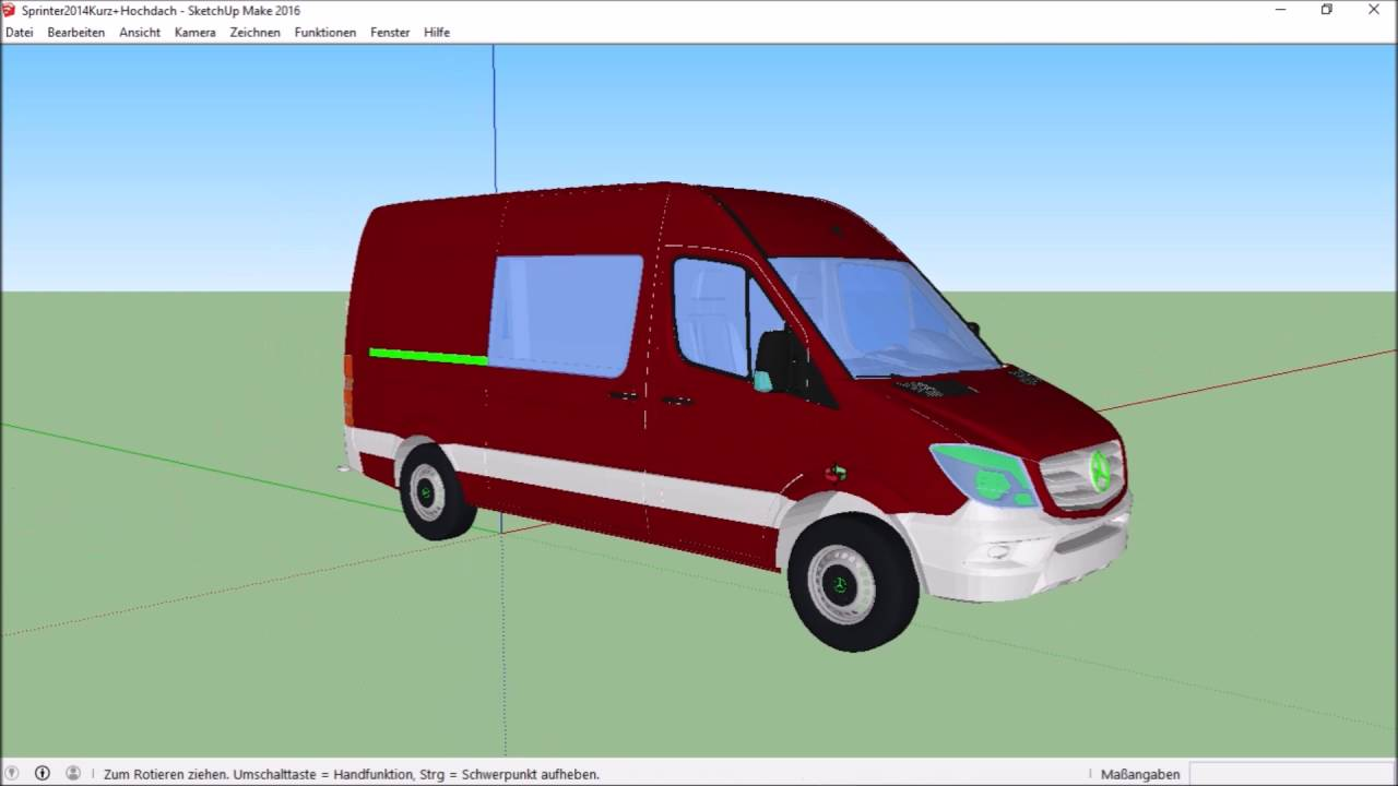 Sketchup Vostellung] Mercedes Benz Sprinter 2014 - YouTube