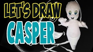 Drawing Casper the Friendly Ghost! (Basic shapes and lines)