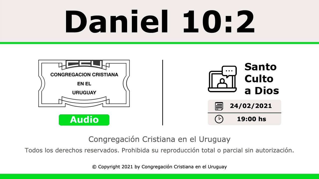 Santo Culto a Dios (Solo Audio) - 24/02/2021 - 19:00 Hs.