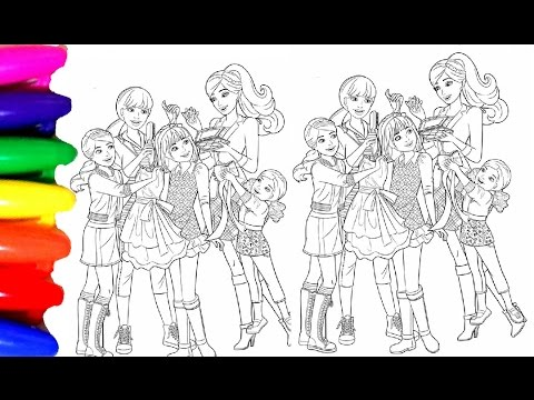 Coloring Pages BARBIE Princess Chelsea Coloring Book Videos for kids Learning Colors