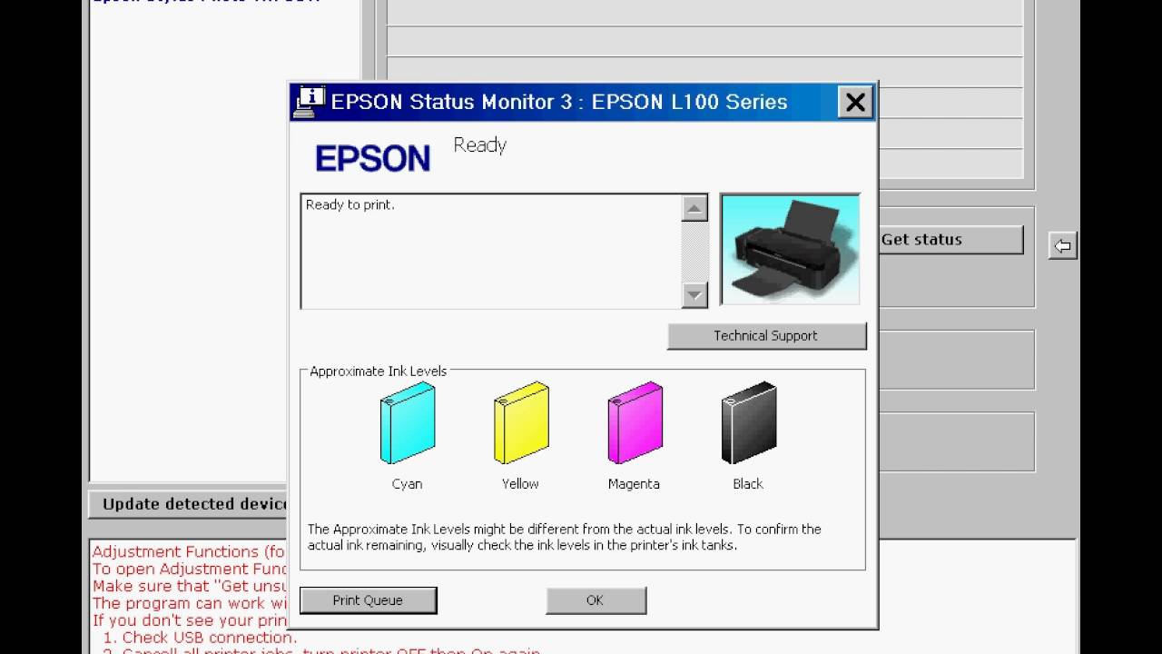 Epson L100, L200, L800 etc  printers Ink Reset  FREE Ink levels reset!