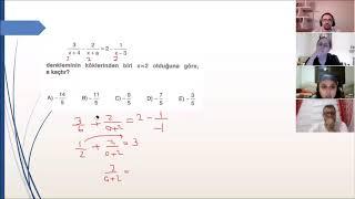 Uzaktan Eğitim Matematik 16 Denklem Çözme