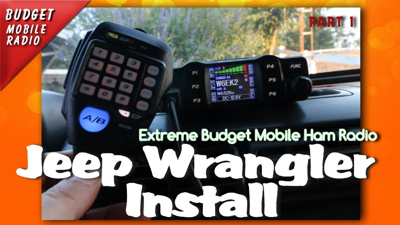 Extreme Budget Mobile Ham Radio Install Jeep Wrangler TJ PT1 | K6UDA on jeep wrangler radio fuse, jeep wrangler trailer wiring harness, jeep wrangler radio antenna, jeep wrangler door harness, jeep wrangler fuse box diagram, jeep wrangler wiring diagram, jeep wrangler radio bracket, jeep wrangler radio relay, jeep wrangler antenna harness, jeep wrangler radio cover, jeep wrangler window regulator, jeep wrangler transmission cooler lines, jeep wrangler mpg,