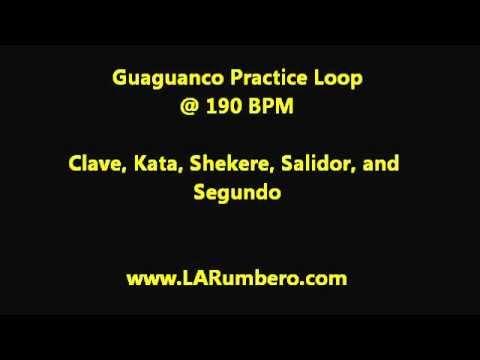 Rumba Guaguanco Practice Loop - Clave, Shekere, Salidor, Segundo @ 190 BPM