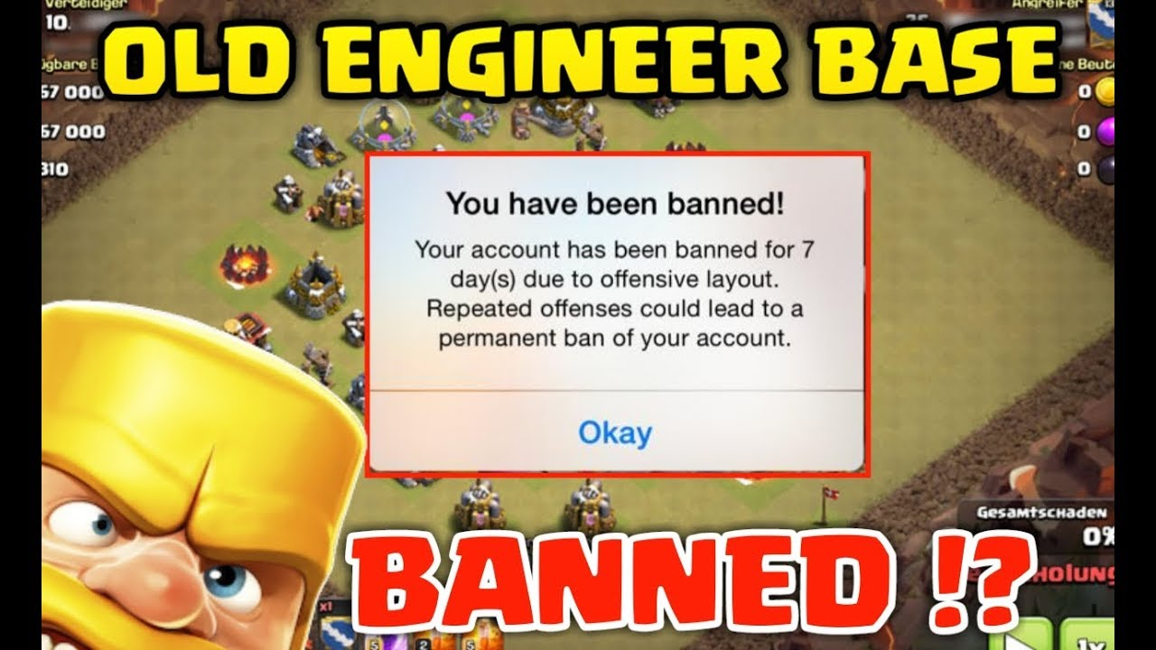 OLD Engineerd Base BANNED !? Clash of clans Townhall 12 Update !