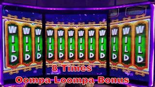 World Of Wonka Slot Machine 8 Times Oompa Loompa Bonus , Full Video