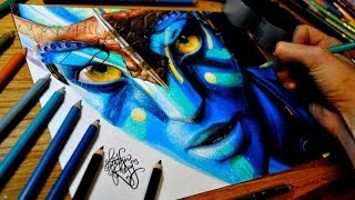 Drawing Neytiri (Avatar)