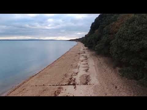 Flying Down Calshot Beach