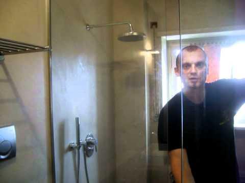 Box doccia senza telaio in cristallo temperato prodotta da vetraio milano mussi giovanni youtube - Box doccia senza telaio ...