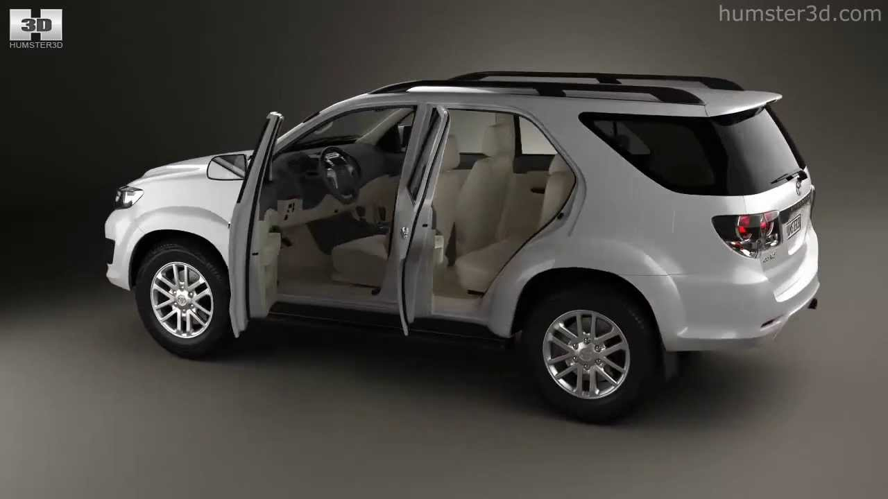 Toyota Fortuner With Hq Interior 2013 By 3d Model Store Humster3d Com