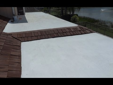 COOL WHITE FLAT ROOF COATING - WEST PALM BEACH FLORIDA