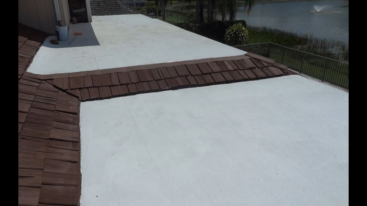 Cool White Flat Roof Coating West Palm Beach Florida