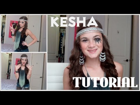 Kesha Tutorial! (Hair Makeup and Outfit)  sc 1 st  YouTube & Kesha Tutorial! (Hair Makeup and Outfit) - YouTube