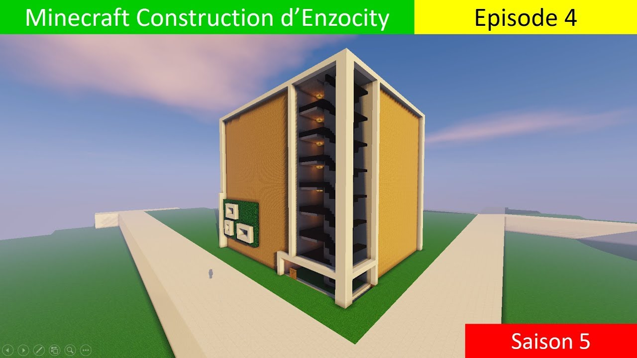 Immeuble ultra moderne minecraft construction d 39 enzo city s5 episod - Immeuble moderne minecraft ...