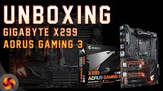 Gigabyte X299 Aorus Gaming 3 Motherboard UNBOXING