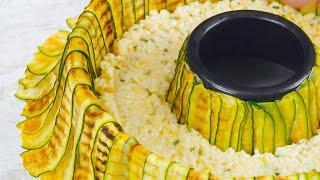 ¡Llena el molde concéntrico con verdura y rellénala con ESTO! Increíblemente delicioso