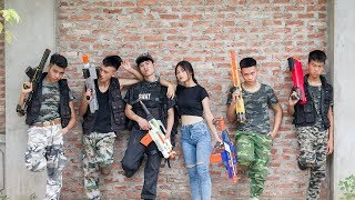 3T Nerf War : Squad Alpha Double SWAT Nerf guns Fight The Criminal Gang of Theft