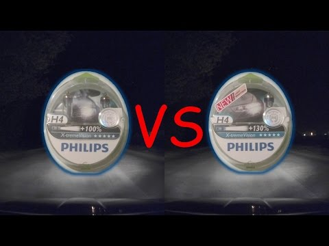 Philips X-treme Vision 100% vs. 130% comparsion