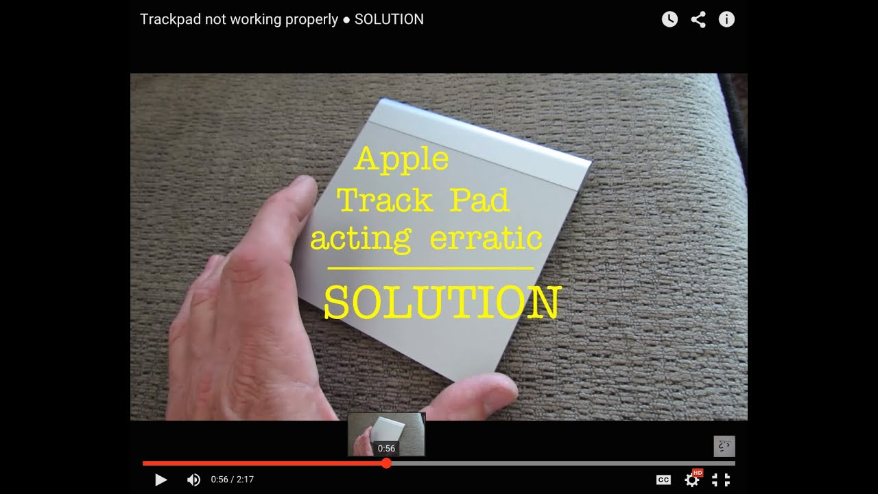 Mac Apple Trackpad Glitchy not working properly ○ SOLUTION