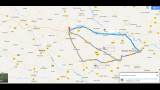 How google maps works for finding the shortest distance Free HD Video
