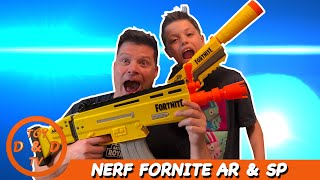 Nerf Fortnite Blasters!-Toy Unboxing-PLAY FORNTNITE IN REAL LIFE WITH THE NERF AR-L & SP-L