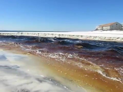 Eastern Lake Outflow Opening Feb 7 2016 Seagrove Florida