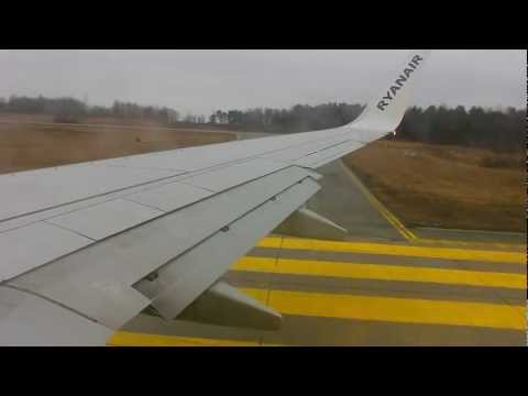 [HD] Ryanair 737 - Very rough takeoff from Oslo Rygge with DE-ICE