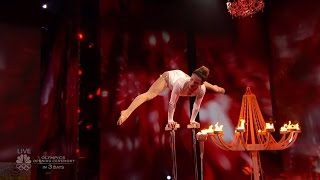 America's Got Talent 2016 Sofie Dossi Contortionist Gymnast Archer Live Shows Round 2 S11E14