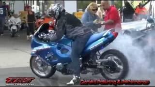 2012 COAMO SAN BLAS MARATHON MOTORCYCLE BURNOUTS