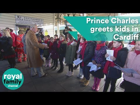Prince Charles takes Royal Train to Cardiff to greet kids