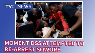 Moment DSS attempted to re-arrest Sowore at federal high court, Abuja