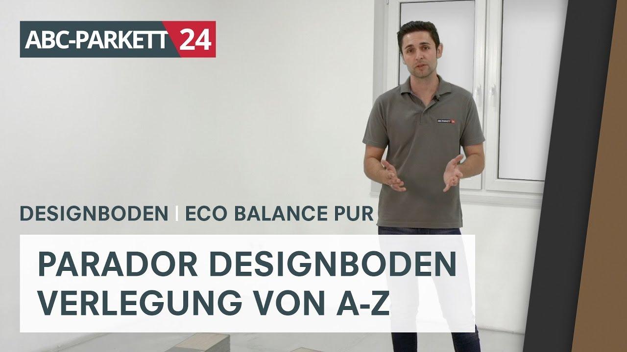 parador designboden eco balance pur richtig verlegen youtube. Black Bedroom Furniture Sets. Home Design Ideas
