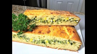 ЗАЛИВНОЙ ПИРОГ с яйцом и зеленым луком. Вкус и Запах  весны в каждом кусочке!