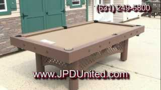 Video 28 -- Waterproof Outdoor Pool Table #1 -- At Jpd United -- Farmingdale New York (ny)