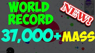 AGAR.IO NEW WORLD RECORD : OVER 37,000 MASS! - TEAMING IN AGARIO #27 thumbnail