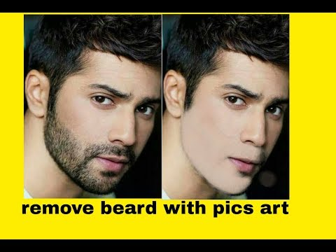 How To Remove Beard With Pics Art Easy Methode || Jawad Soomro