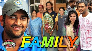 Mahendra Singh Dhoni Family With Parents, Wife, Daughter, Brother, Sister & Girlfriend