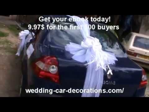 Verrassend How to create pompon - wedding car decorations - YouTube TL-52