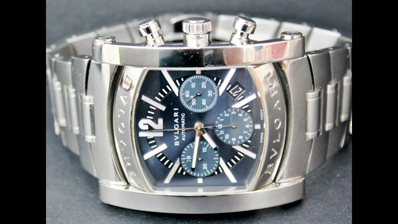 67fcf424ce2 BVLGARI ASSIOMA CHRONOGRAPH WATCH - YouTube