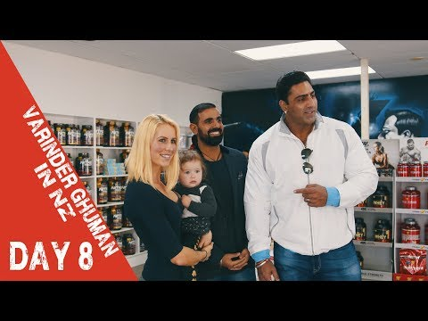 VARINDER GHUMAN DAY 8 #VLOG | Push Up Competition | OneSupps New Lynn & Gym Tips