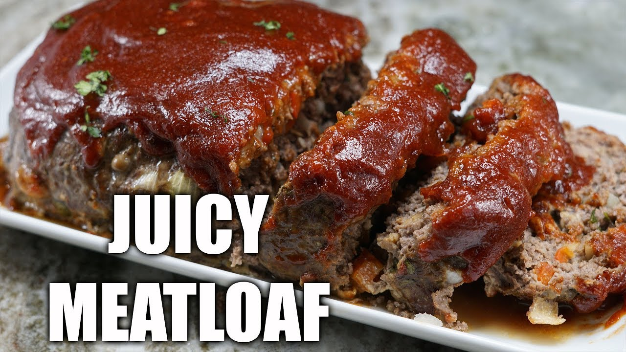 How To Make Juicy Meatloaf Easy Meatloaf Recipe Youtube