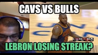 LEBRON JAMES CONTINUES LOSING STREAK? Cleveland Cavaliers vs Chicago Bulls HIGHLIGHTS (REACTION)