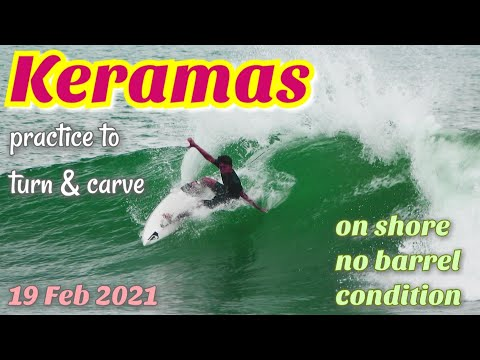 【Bali Surf Vlog】2-3ft On shore condition /KERAMAS/クラマス 19 Feb 2021