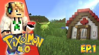 Minecraft Pixelmon 4.1.4 Ep.1- New Pokemon, New Building & More!!!!(Pixelmon 4.1.4))