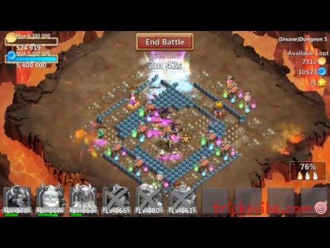 Castle Clash Insane Dungeon 5-2