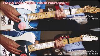 """STATUS QUO - """"What You're Proposing"""" for Lead- & Rhythm-Guitar (Francis Rossi, Rick Parfitt) Cover"""