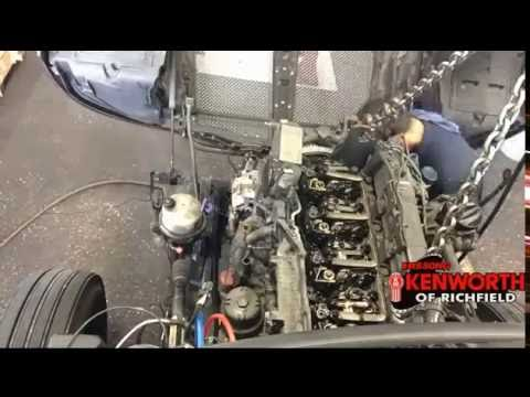 Kenworth T680 Paccar Mx13 Engine Removal Time Lapse Youtube