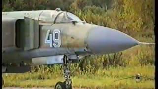 МиГ-23 звено боевых Озерное // MiG- 23 flights at the  Ozernoye AFB