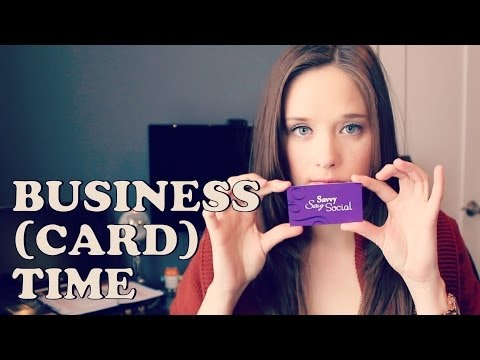 Business Cards: What Goes On There?